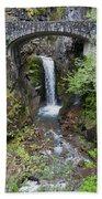Mountain Waterfall Beach Sheet