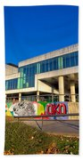 Museum Of Contemporary Art In Zagreb Exterior Beach Towel
