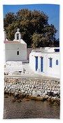 Mykonos Church Beach Towel