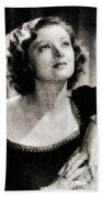 Myrna Loy, Vintage Actress Beach Towel