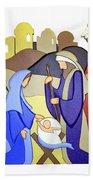 Nativity Scene Beach Towel