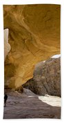 Natural Arch In Wadi Rum Beach Towel by Michele Burgess