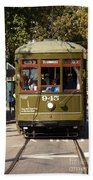 New Orleans Cable Car Beach Towel