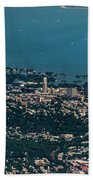 New Rochelle Real Estate Aerial Photo Beach Towel