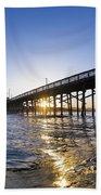 Newport Pier Curl Beach Towel