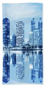 Night Scenes Of City Beach Towel