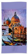 Night Venice Beach Towel