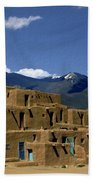 North Pueblo Taos Beach Towel by Kurt Van Wagner