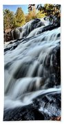 Northern Michigan Up Waterfalls Bond Falls Beach Towel