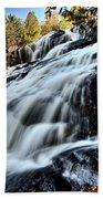 Northern Michigan Up Waterfalls Bond Falls Beach Towel