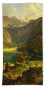 Obersee. Bavarian Alps Beach Towel