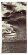 Ocean God Clouds Beach Sheet