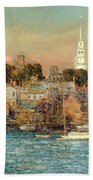 October Sundown Beach Towel by Childe Hassam