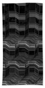Office Building Abstract Beach Towel