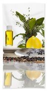 Oil Mixture Of Essential Oils For Aromatherapeutic Use Beach Towel