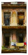 Old Havana Building Beach Towel