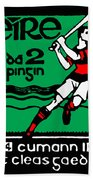 old Irish postage stamp Beach Towel