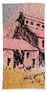 Old Mill Cable Ghost Town Montana_ Beach Towel