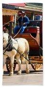 Old Tucson Stagecoach Beach Towel