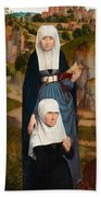Old Woman At Prayer With St. Anne Beach Towel