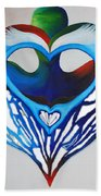 Open Heart Beach Towel