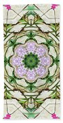 Orchids And Stone Wall Kaleidoscope 1764 Beach Towel