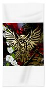 Owl In Flight Collection Beach Towel