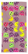 Pacman Seamless Generated Pattern Beach Towel