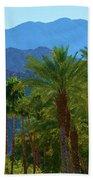 Palm Springs Mountains Beach Towel