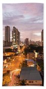 Panama City At Night Beach Towel