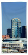 Panoramic View Of Nashville, Tennessee Beach Towel