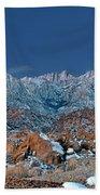 Panoramic Winter Morning Alabama Hills Eastern Sierras California Beach Sheet