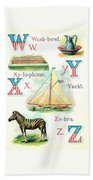 Patriot Abc Book  Page Twelve Beach Towel