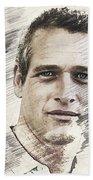 Paul Newman, Actor Beach Sheet