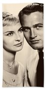 Paul Newman And Joanne Woodward In The Long Hot Summer 1958 Beach Towel