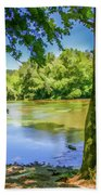 Peaceful On The River Beach Towel