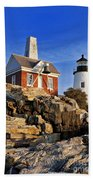 Pemaquid Point Lighthouse Beach Towel