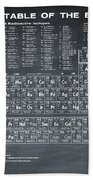 Periodic Table Of Elements In Black Beach Towel
