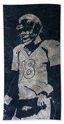 Peyton Manning Broncos Beach Towel