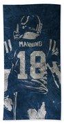 Peyton Manning Colts 2 Beach Towel