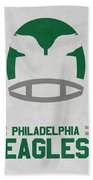 Philadelphia Eagles Vintage Art Beach Towel