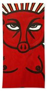 pig Beach Towel