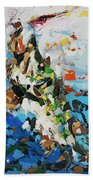 Pike In Action Beach Towel
