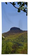 Pilot Mountain In Spring Green Beach Towel