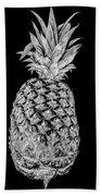 Pineapple Isolated On Black Beach Towel