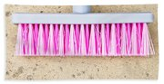 Pink Broom Beach Towel
