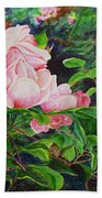 Pink Cascade Beach Towel