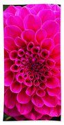 Pink Flower Beach Towel