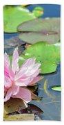 Pink Water Lily Series Beach Towel