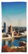 Pittsburgh Skyline Beach Sheet